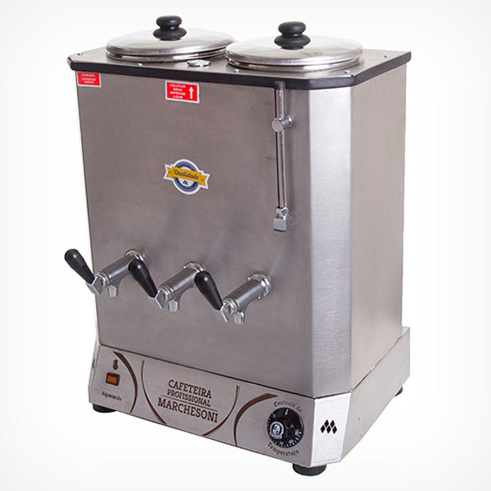 Cafeteira Elétrica Profissional Marchesoni 2 Depósitos 6 Litros cada CF. 4 - 622 220V