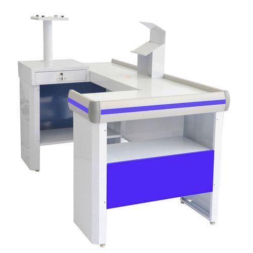 Balcao-Check-Out-Venancio-180m-Azul-Invertido-com-Kit-Automacao
