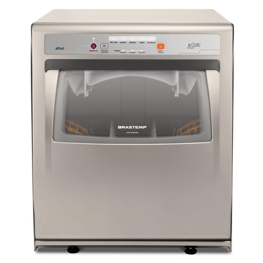 Lava - Louças Brastemp Ative 8 Serviços Prata BLF08 220V