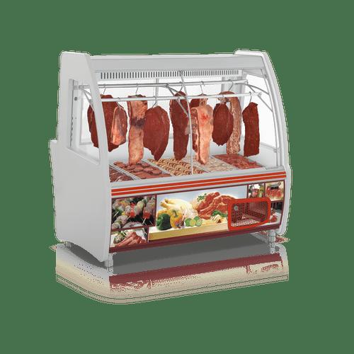 Balcao-Refrigerado-Gelopar-158m-Duplex-Acougue-Vidro-Curvo-GCPC-160-220V