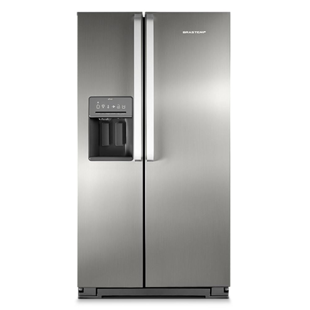 Geladeira Refrigerador Side By Side Brastemp Ative Inox
