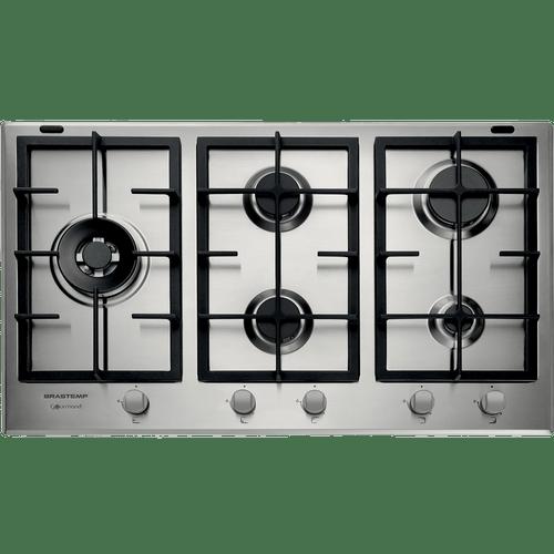 Cooktop-a-Gas-Brastemp-Gourmand-5-Bocas-90cm-Inox-BDK90DRBNA-220V