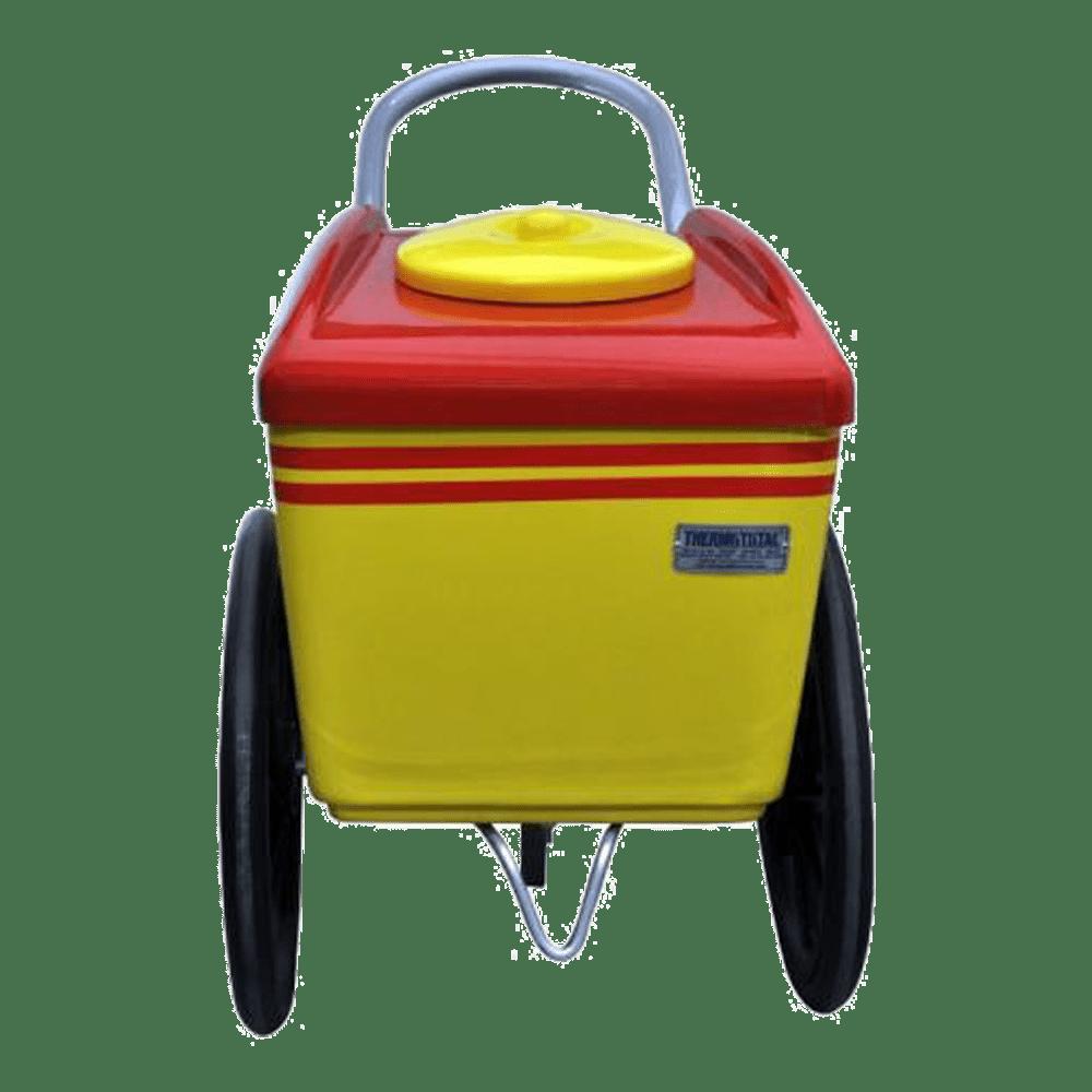 Carrinho para 300 Picolés Thermototal Amarelo / Vermelho Aro 20 T - 350