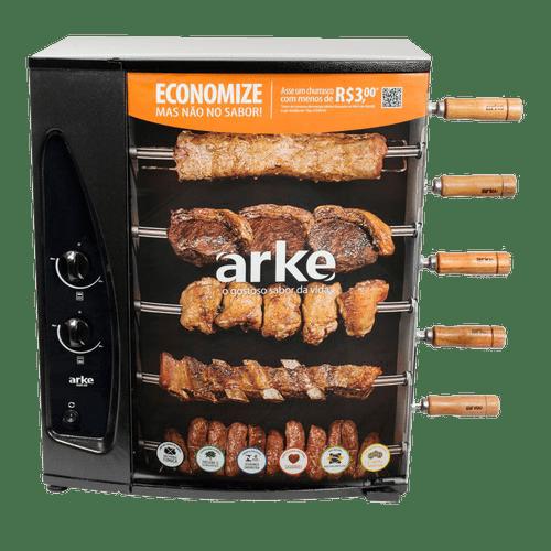 Churrasqueira-a-Gas-GLP-Giratoria-Arke-com-5-Espetos-AGR05-Bivolt---Kit-Gas-