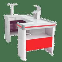 Balcao-Check-Out-Venancio-18m-Vermelho-com-Kit-CCK18