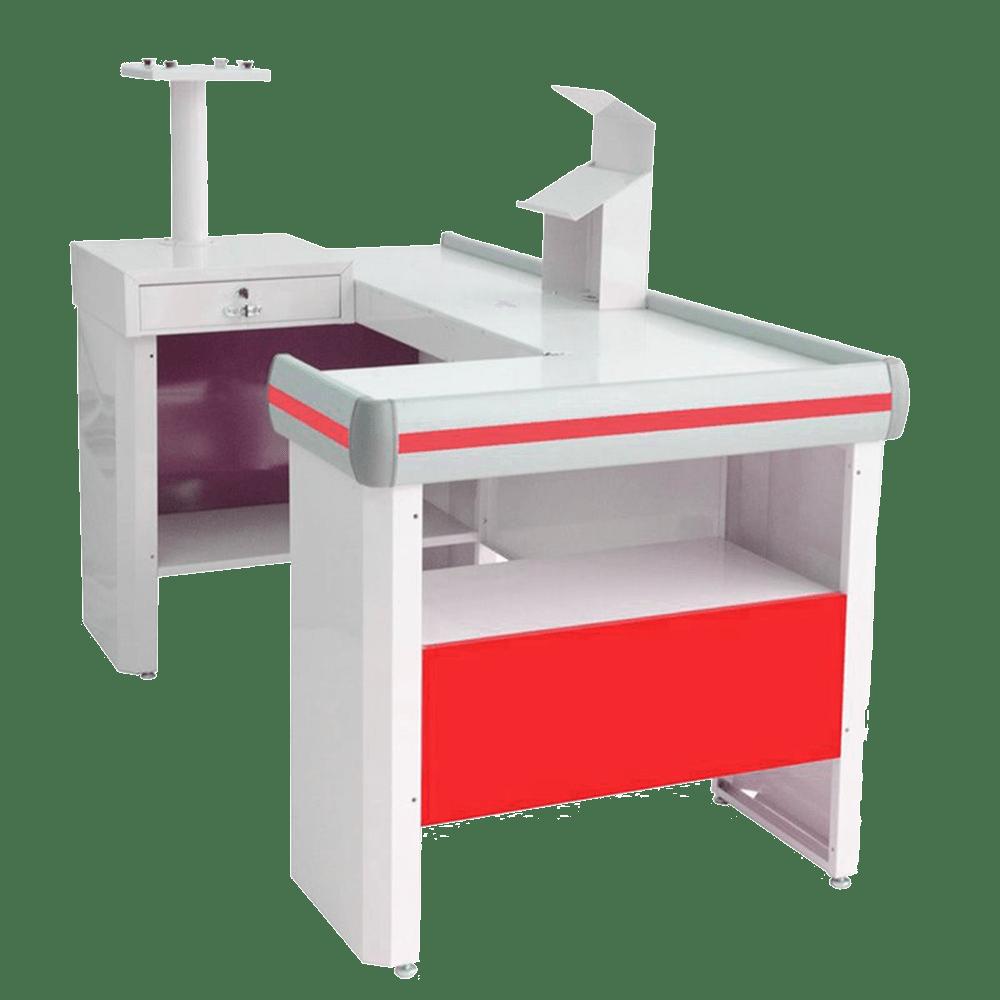 Balcão Check - Out Venâncio 1,8m Vermelho com Kit CCK18