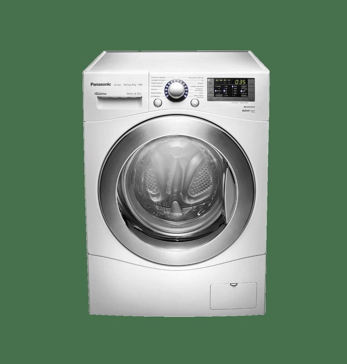 Lavadora e Secadora de Roupas Panasonic, 10,2 Kg, Branca - NA - S106F1WB 220V