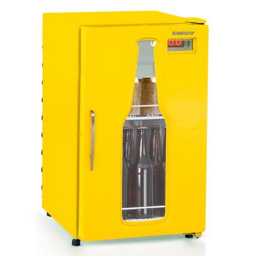 Cervejeira-Gelopar-112-Litros-Amarela-Porta-com-Vidro-GRBA-120AM-
